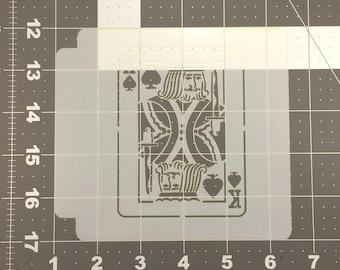 King Card 100 Stencil