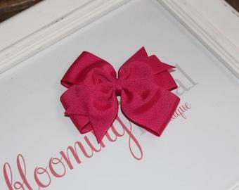 """Hot Pink Large 4"""" Pinwheel Bow"""
