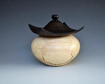 Lidded Vessel in Maple (Pagoda box)