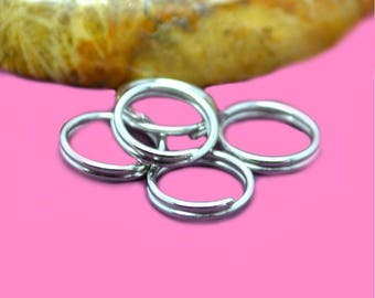 Double 8mm silver color rings