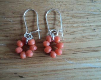 Natural coral earring