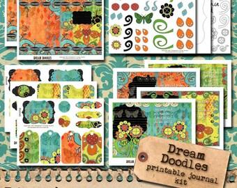 Inspirational Doodle Art Journal - 5x7 printable journal kit