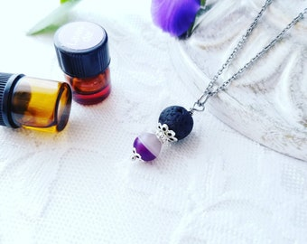 Essential Oil Necklace Lava Rock Necklace Diffuser Necklace Oil Diffuser Jewelry Aromatherapy Necklace Lava Stone Necklace Gemstone Jewelry