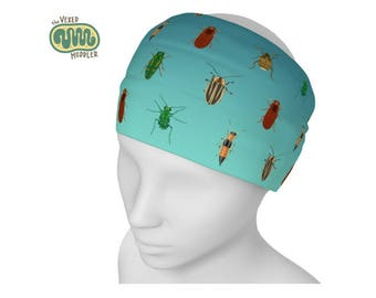 Beetle yoga headband - quick-dry hair band science fashion - beetle accessory for entomologists