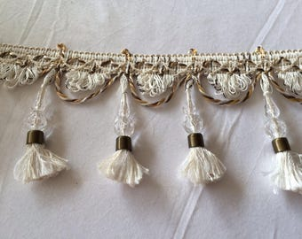 Fringe with tassel and bead for decoration