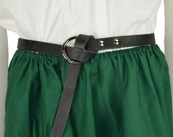 Child's Thin Ring Belt - Leather Kid's Belt #DK2029