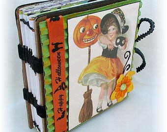 Halloween Mini Scrapbook, Smash Book, Journal, Photo Album