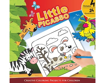 Little Picasso Vol 4 (Creative Coloring Projects for Children)