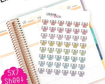 MC78 Planner Nerd Icons.  Perfect for the Erin Condren, Plum Paper, Happy, Mambi, Kikki or Filofax Planners!!!