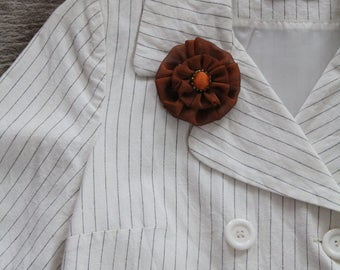 Brooch brick/accessory/jewelry woman vintage silk fabric