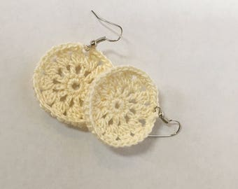 Crochet Lace Earrings | Crochet Earrings | Handmade Earrings | Lace Earrings | Handmade Jewelry | Dangle Earrings