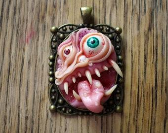 Disgusting Toothy Horror Pendant