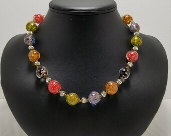 Venetian Glass Bead Necklace
