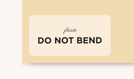 Please do not bend stickers 3 5x1 75 clear matte sticker packaging supplies clear labels clear stickersmatte labelsset of 10 stickers from
