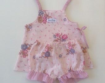 Baby Girl Side Split Set - Size 0