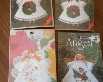 Counted Cross Stitch Kit -Christmas Angel Ornaments- Sold Seprately