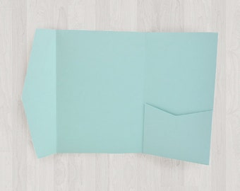10 Large Vertical Pocket Enclosures - Light Blue - DIY Invitations - Invitation Enclosures for Weddings and Other Events