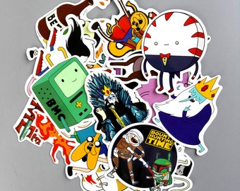 25 Adventure Time Waterproof Stickers -  Funny Sticker Decal - Sticker Bomb Pack Laptop Stickers - sticker pack - Sticker Laptop sku51