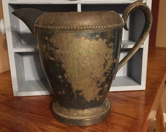 Beautiful Silver on Copper Water Pitcher made by FB Rogers 7507