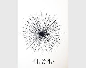 El Sol - Screenprint