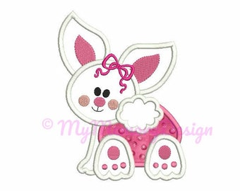 Easter Bunny Embroidery - Bunny applique - Easter embroidery - Baby embroidery - Machine embroidery file - INSTANT DOWNLOAD 4x4 5x7 6x10