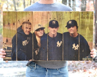 Wooden Photo Gift • Fathers day photo frame • Fathers day gift • Home Gifts  • Wood Wall Art • Large pallet photo • Wood photo