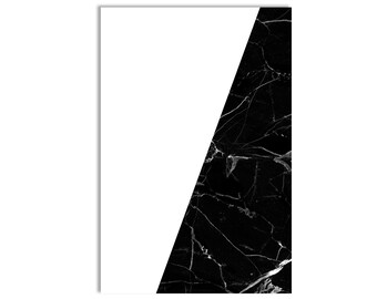 Kelly Black Mable Geometric Print Minimalist Poster Modern Art Minimalist Art Black and White Art Black and White Wall Art Marble Print