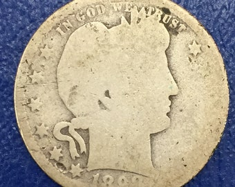 1898-S Barber Quarter, Liberty Head Quarter <> BETTER DATE <>  M376