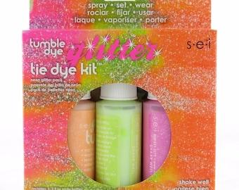 Neon Tye Dye Kit Tumble Dye GLITTER Kit Free post in Australia