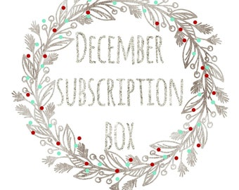 Crystal Subscription Box ~ December ~ Grounding stone ~ Monthly Subscription Box ~ Monthly Crystal Box ~ Crystal Gift ~ Crystal Gift Set