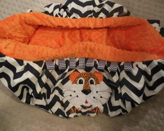Tiger Shopping Cart Cover/Auburn tiger/tiger cart cover/tiger shopping cart cover/sports shopping cart cover/navy chevron cart cover