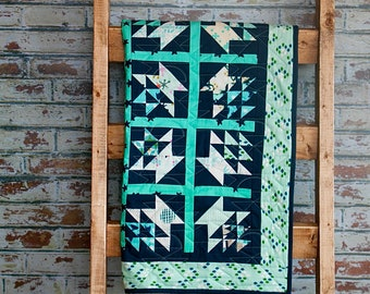Quilt Basket Wall Hanging with Cotton and Steel Fabrics