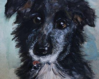 Custom pet portrait, custom animal art, custom pet art, dog portrait, nursery decor, pet painting, cat art,dog art, animal art