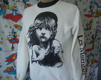 Vintage LES Miserables 1986 Musical Film Sweatshirt fits Size Large