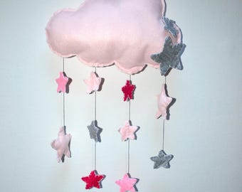 Pink Ribbon shaped cloud felt birth