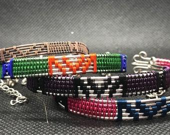 Custom wire woven bracelet