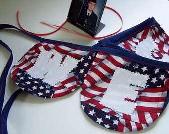 Welcome Home Fabric Banner in Red, White and Blue FREE SHIP , July 4, Independence Day, USA, Veteran, Home, Patriotic, Military