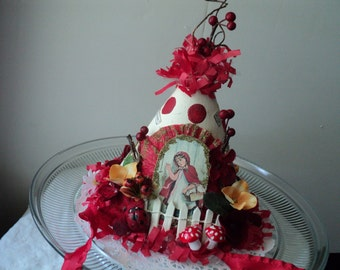 Red Riding Hood Party Hat