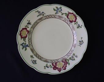 George Jones & Sons Old Swansea Crescent Ware Dinner Plate