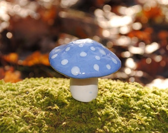 Mini decorative ceramic mushroom