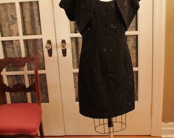 Little Black Dress with Matching Shrug/Bolero