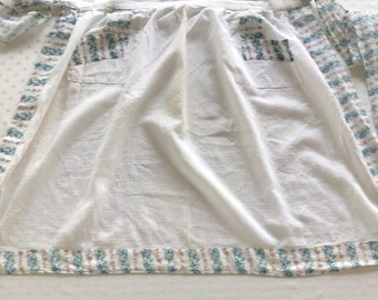 Vintage Handmade Apron, Vintage Aprons, Half Apron, Women's Apron