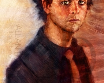 Billie Joe Armstrong of Green Day - Limited Edition Giclee Print 16 x 20