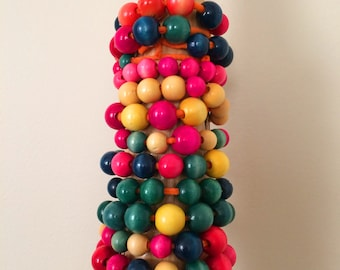 Colorful Wooden Beaded Bracelets