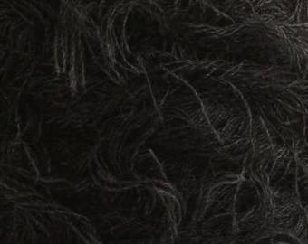 Fleecy yarn acrylic yarn on a cone bobbin yarn knitting yarn crochet yarn hand knitting yarn grass yarn gray yarn downy yarn furry fiber