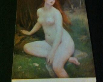Vintage risque postcard Antoine Mercier  1900s not used Salon de Paris N 160