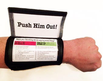 Baby Boy Labor & Delivery Tips and Tricks Armband for New Dad - Hospital Bag Item, Pregnancy, Gift for new dad