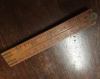 Antique Wooden Fold Out Ruler