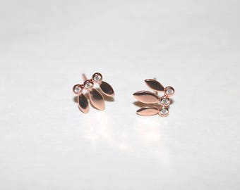 Rose Gold Vermeil EARRINGS with Zircon