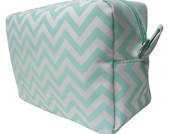 MINT - Chevron Cosmetic Bag - FREE Monogram!!